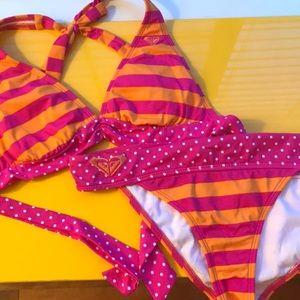 roxy striped bikini